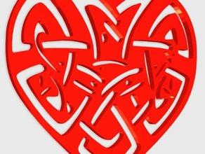 heart celtic pendant jewelry 3d valentine days celtic heart celtic knot celtic pendant charm love easy print fashion heart hearts kingdom hearts love heart love mesh h love valentine mesh heart pendant pendant love symbols hearts valentine day