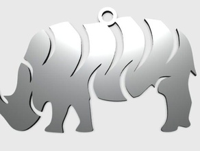 rhino pendant jewelry 3d animal animal animal art animal pendant animal rhino animal tribal charm animal charm rhino easy print fashion pendant rhino animal rhino pendant tribal pendant