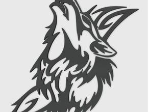 wolf tribal pendant jewelry 3d easy print 3d tribal 3d wolf 3d wolf tribal animal pendant charm easy print tribal wolf wolf moon wolf pendant wolf tribal