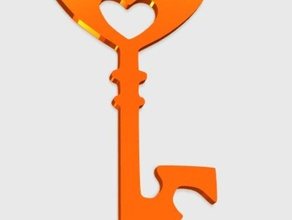 key heart pendant jewelry 3d easy print 3d heart easy print heart key jewelry keychains key heart love heart love key pendant key heart