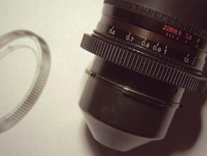 follow focus gear - lomo prime lens camera cinematography dslr film follow focus kinor konvas lens lomo