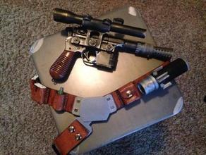han solo blastech dl-44 conversion parts props blaster cosplay han solo han solo blaster han solo pistol star wars
