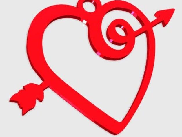 heart arrow pendant jewel