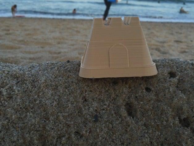 simple sand castle 3d pri