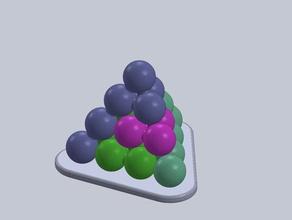 tetraeder puzzles games plate puzzle sphere stack tetraeder