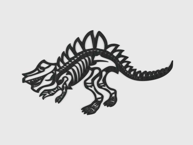 dinosaur - bone line art