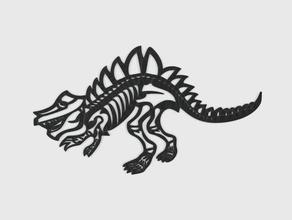 dinosaur - bone line art amulet animal bone dino dinosaur extinct jurassic keychain