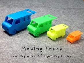moving truck toys & games moving moving parts toy toy truck truck trunk turn turning wheel