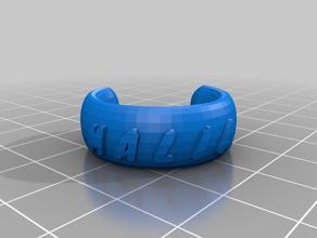 my customized text ring bracelet crown thing malia fashion customized