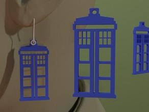 doctor - tardis earring earrings 3dpicks doctor doctor drwho dr mini tardis tardis tardis drwho tardis earrings tardis