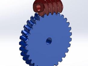 worm gear set example engineering gear gears worm worm-gear worm gear