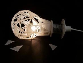 in frantumi sfaccettato luce arredamento sfaccettato ikea ikea hack la lampada paralume luce una spia di illuminazione wirelamp