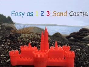 easy 1 2 3 sand castle mold construction toys 1 1 2 3 2 3 3d  castle beach build buildacastle build cast caste castle castle mold design easy mold molds mould moulds play sand sandcastle sand castle toy