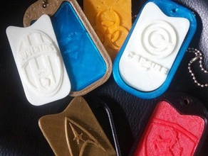 customizable tags use wherever you want print - wear accessories 3d fashion 3d tags customizable fashion tags