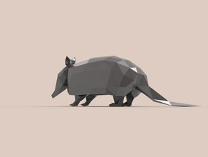 armadillo animals animal armadillo faceted lowpoly lowpolygon