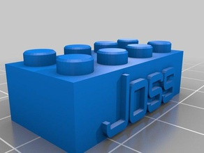 il mio personalizzato lego blocco collana portachiavi - joss costruzione di giocattoli su misura