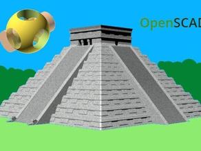 pyramid kukulcan chichen itza buildings & structures mayan mayan temple openscad pyramid