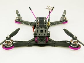 qr270 hd-cam-Halterung Dämpfungs-Platte - groß 2d-Kunst copter flyduino fpv gopro mobius qr270 quadrocopter racequad runcam xiaomi
