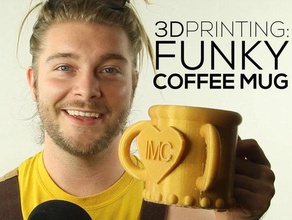 funky coffee mug engineering 123d 123d design 3d hubs 3d modeling autocad beginner beginners coffee coffee mug created freecad dreads freecad funky learning learning 3d pla porcelain shapeways tutorial