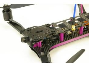 qr400 hd-cam-Halterung Dämpfungs-Platte - groß 2d-Kunst copter flyduino fpv gopro mobius qr400 quadrocopter racequad runcam xiaomi
