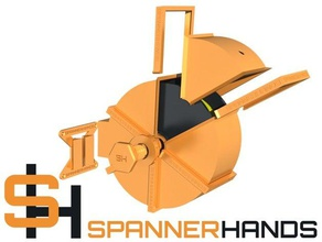 spannerhands spool system wall mounted spool holder & dust cover 3d printer parts cartridge created freecad dust cover filament-spool filamentchallenge filament spool filament spool holder spannerhands spool spoolholder spool cartridge spool cover spool holder spool mount spool stand wall mount wall mounted
