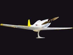 parte de ala rc p51-d mustang vehículos ala de un avión impreso ai