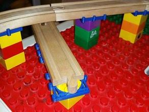 duplo 40mm wide wood track like thomas brio railway minimalist approach mechanical toys adapter construction toys duplo brick duplo compatible duplo tracks duplo train kids kids toy lego duplo thomas train wood train