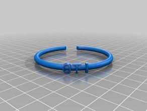 my customized text ringbraceletcrown thing oti fashion