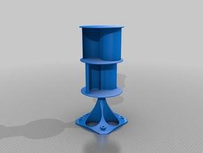 s-vawt savonius lückenlose 8 Watt wind turbine outdoor Garten Batterie-Ladegerät Handy-Ladegerät eco-friendly green energy vertikale wind-turbine Windmühle