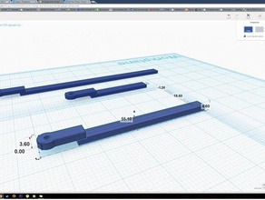 point change link extension 00 gauge railway point 3d printing crank point electrification point extension point linkage