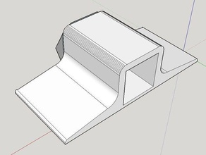 clip clamp 10x10mm square tuberod end holder rc vehicles