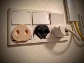 dog plug decor nose outlet outlet cover outlet covers outlet plug outlet plugs snout