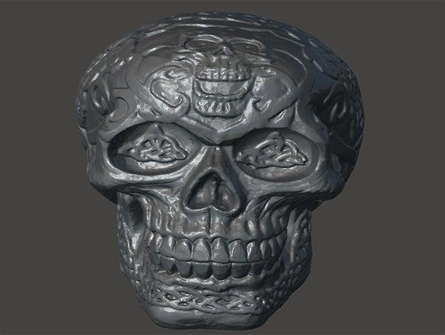skull-engraving models