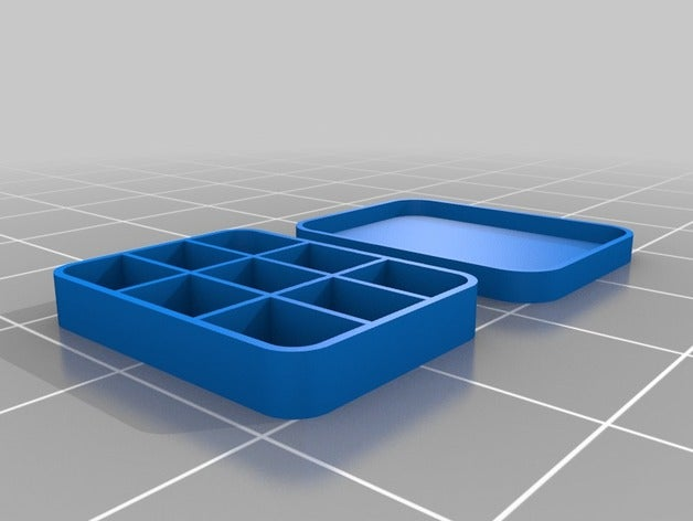 9 section box tool holder