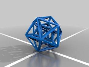 icos cage art icosahedron platonic solid