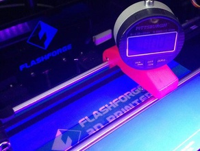 dial indicator jig flashforge creator pro rep2 3d printer accessories dial indicator mount