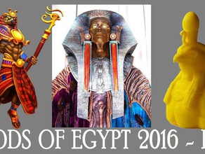 ra bust god sun egypt mythology gods 3d printing 3d printer 3d printing 3diy original bust ra god ra thingiverse video youtube
