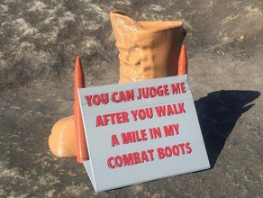 walk mile my combat boots signs & logos afghanistan air force army army boot asllexicon boot boots bullet coast guard combat combat boot gift holiday holidays holiday decoration iraq judge korea korean  marines memorial memorial day memory military navy olsen present prusa remembrance remembrance day saying sayings sniper soldier soldiers tinkercad todd todd olsen us air force us coast guard us marines us military us army vet veteran veterans veterans day vietnam walk ww1 ww2 wwi wwii
