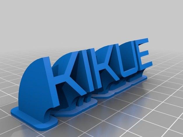 kikue sweeping name plate