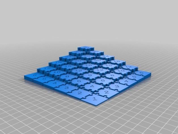 puzzle generator math art