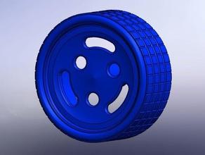 llanta 3 puntos 3 ranuras robotics arduino rueda rueda llanta wheel wheels