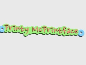 printy mcprintface tag meant attached 2020 extrusion ft-5 3d printer accessories