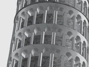 torre pendente di pisa 3d stampa