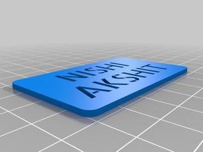 nishi akshit tag signs logos customized