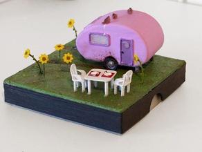 caravan gift box decor decoration dollhouse miniature miniatures present small box small world valentines day valentines day gift wohnmobil