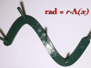 rad rax trigonometric multipurpose wall rack organization accessor art functional math math art spool mount