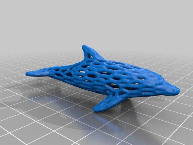 voronoi dolphin art anima