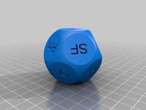 genre choosing dice customized