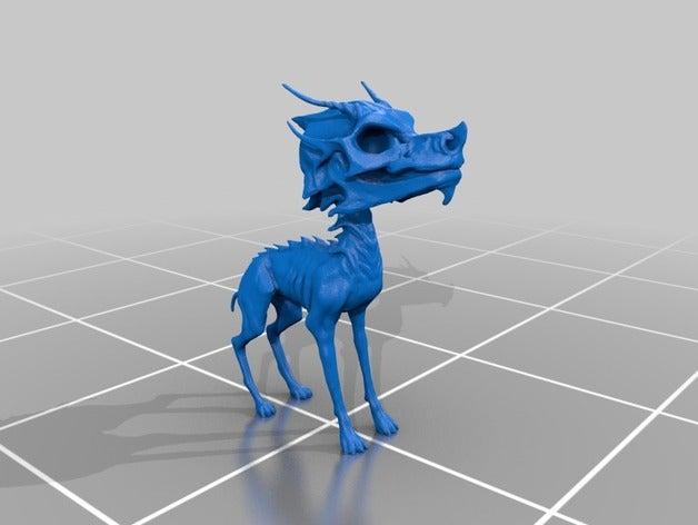 skull-perro 3d printing