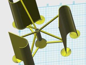 einfaches vertikales windrad vawt - Elektronik generator vertikal wind turbine
